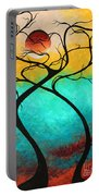 Whimsical Abstract Tree Landscape With Moon Twisting Love IIi By Megan Duncanson Portable Battery Charger