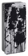 Whimsical Black And White Landscape Original Painting Decorative Contemporary Art By Madart Studios Portable Battery Charger