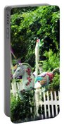 Whimsical Carousel Horse Fence Portable Battery Charger