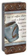 Whimsical Coffee 2 Portable Battery Charger by Debbie DeWitt