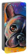Whimsical Colorful French Bulldog  Portable Battery Charger