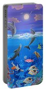 Whimsical Original Painting Undersea World Tropical Sea Life Art By Madart Portable Battery Charger