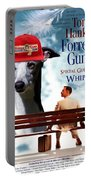 Whippet Art - Forrest Gump Movie Poster Portable Battery Charger