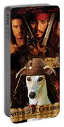 Whippet Art - Pirates Of The Caribbean The Curse Of The Black Pearl Movie Poster Portable Battery Charger