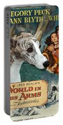 Whippet Art - The World In His Arms Movie Poster Portable Battery Charger