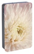 Whispering White Floral Portable Battery Charger
