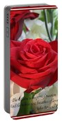 Whispers Of Passion And Love Red Rose Greeting Card  Portable Battery Charger