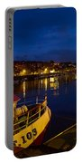 Whitby Upper Harbour At Night Portable Battery Charger
