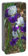 White And Blue Iris Stalks At Boyce Thompson Arboretum Portable Battery Charger