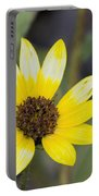 White And Yellow Sunflower Portable Battery Charger