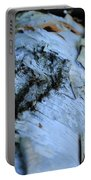 White Birch Log Portable Battery Charger