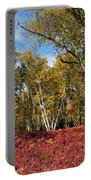 White Birches Of Fall Portable Battery Charger