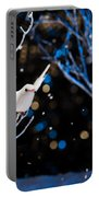 White Bird In Winter Portable Battery Charger