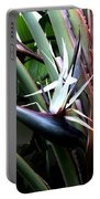 White Bird Of Paradise Portable Battery Charger