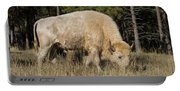 White Bison Symbol Of Hope And Renewal Portable Battery Charger