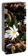 White Bloodroot Portable Battery Charger