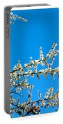 White Blossoms Blue Sky Portable Battery Charger