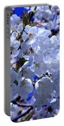 White Blossoms Portable Battery Charger