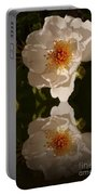 White Briar Rose Reflection Portable Battery Charger