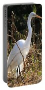 White Brilliance Of The Egret Portable Battery Charger