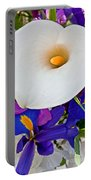 White Calla Lily Bouquet Art Prints Portable Battery Charger