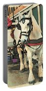White Cart Horse Portable Battery Charger