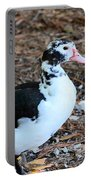 White Chested Muscovy Portable Battery Charger