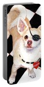 White Chihuahua - Pistachio Portable Battery Charger