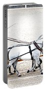 White Coach Horses Portable Battery Charger