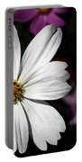 White Coreopsis Portable Battery Charger