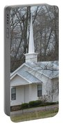 White Country Church Series Photo B Portable Battery Charger