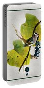 White Crowned Finch Vertical Portable Battery Charger
