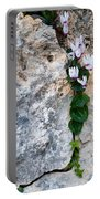 White Cyclamen Flowers Portable Battery Charger