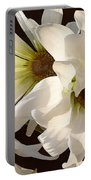 White Daisies In Sunshine Portable Battery Charger