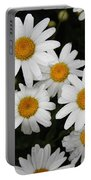 White Daisy's On The Rim Portable Battery Charger