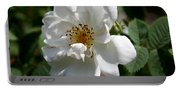 White Dog Rose Portable Battery Charger