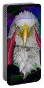 white Eagle face Portable Battery Charger