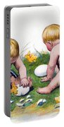 White Eggs Portable Battery Charger