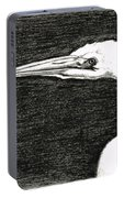 White Egret Art - The Great One - By Sharon Cummings Portable Battery Charger