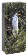 White Egret In The Swamp Portable Battery Charger
