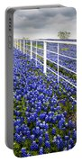 White Fence - Blue Bonnets Portable Battery Charger