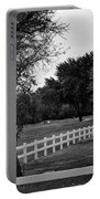 White Fence On The Wooded Green Portable Battery Charger