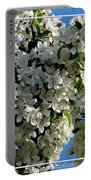 White Flowering Crabapple Tree Portable Battery Charger