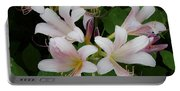 White Flowers 1 Portable Battery Charger