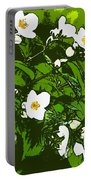 White Flowers II Portable Battery Charger