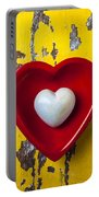 White Heart Red Heart Portable Battery Charger