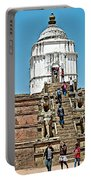 White Hindu Temple In Bhaktapur Durbar Square In Bhaktapur-nepal  Portable Battery Charger