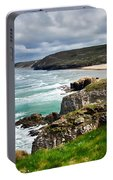 White Horses At Perranporth Beach  Portable Battery Charger