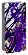 White Hot Wisteria Portable Battery Charger