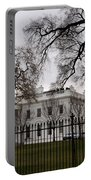 White House On A Cloudy Winter Day Portable Battery Charger
